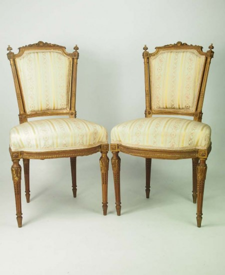 Pair Antique French Side Chairs