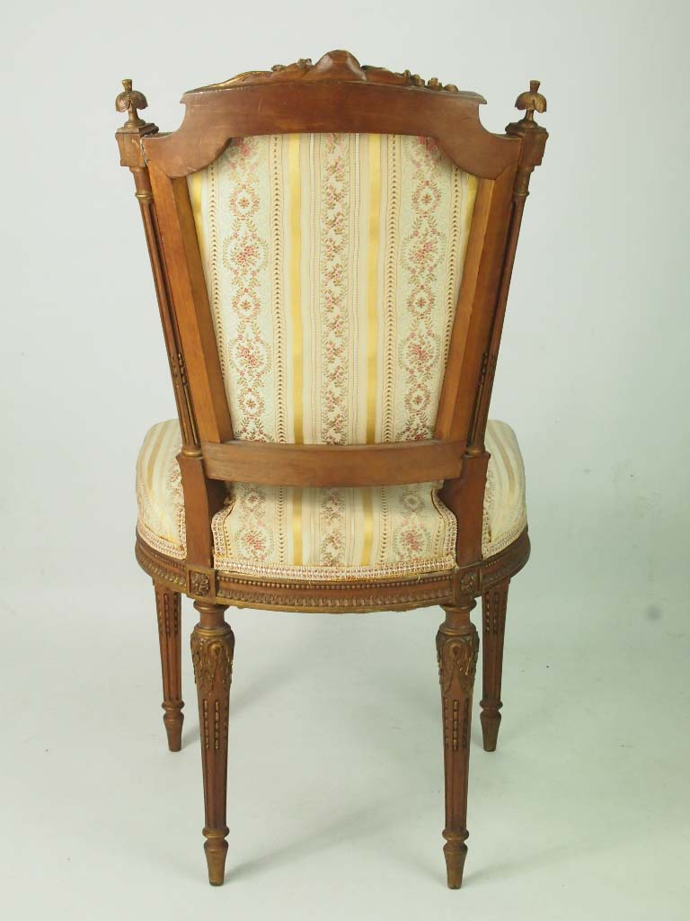 Pair of Antique Giltwood French Side Chairs in Louis XVI ...
