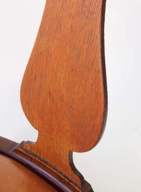 Vinatge Oak Swivel Office Chair