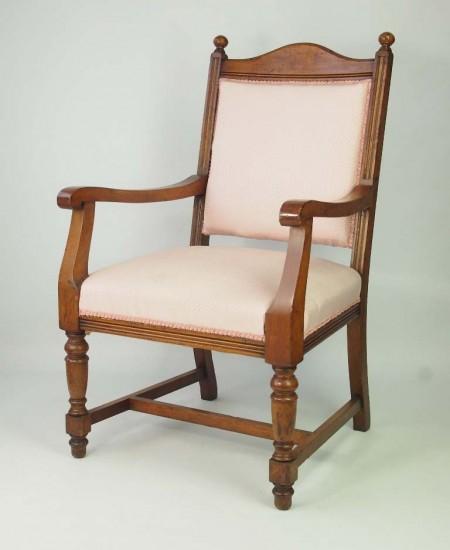 Antique Edwardian Oak Armchair