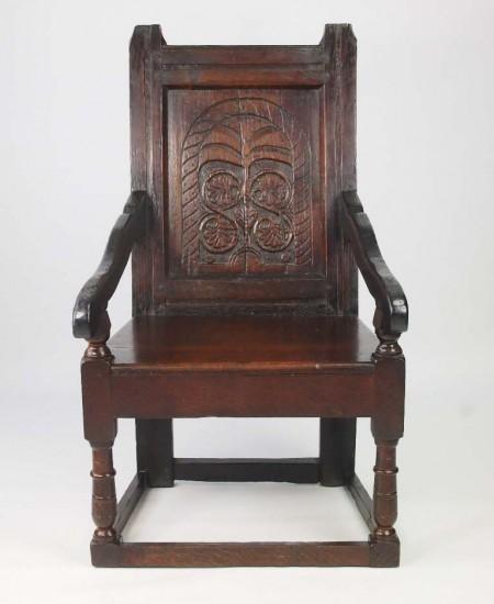 Antique Oak Wainscot chair