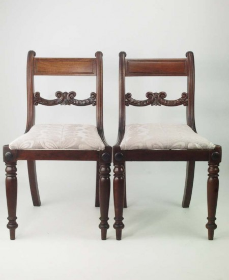 Pair Antique Regency Chairs