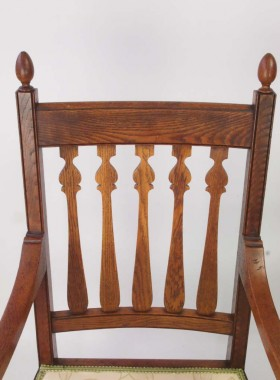 Pair Antique Arts Crafts Chairs