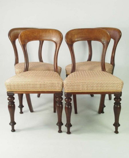 Set 4 Victorian Mahogany Dining Chairs