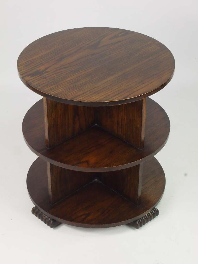 Art Deco Oak Book Table Coffee Table