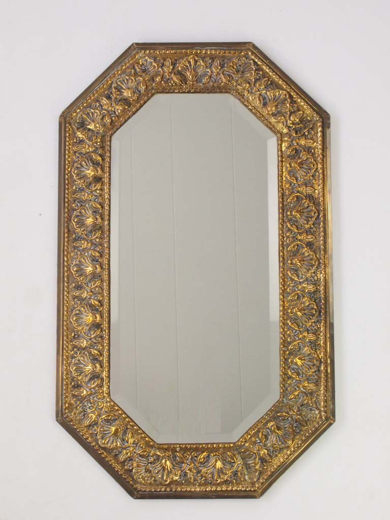 Pressed Brass Wall Mirror Circa 1920s
