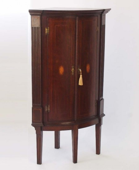Antique Georgian Corner Cupboard on Stand