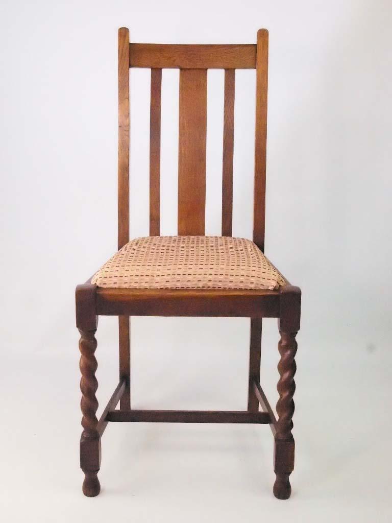 Set 4 Vintage Oak Dining Chairs Circa 1920s