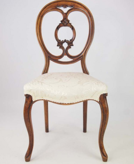 Victorian Walnut Balloon Back Chair
