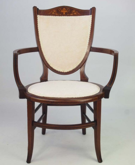 Edwardian Shield Back Armchair
