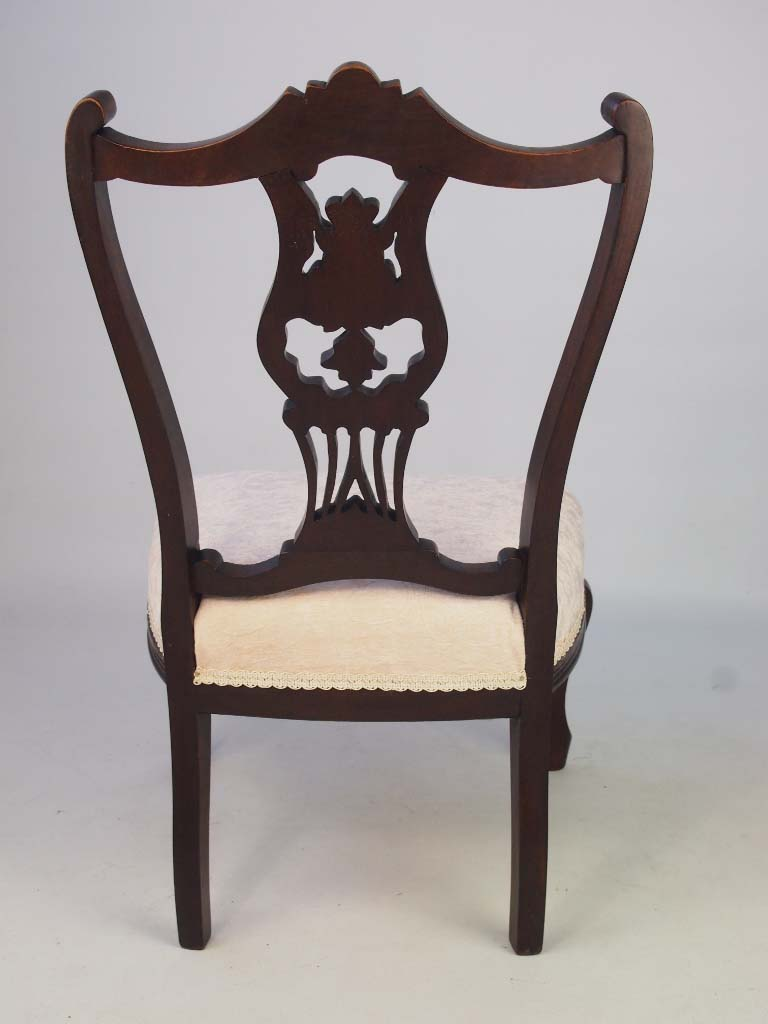 Dressing Table Chairs And Stools: Small Antique Edwardian Dressing Table Chair