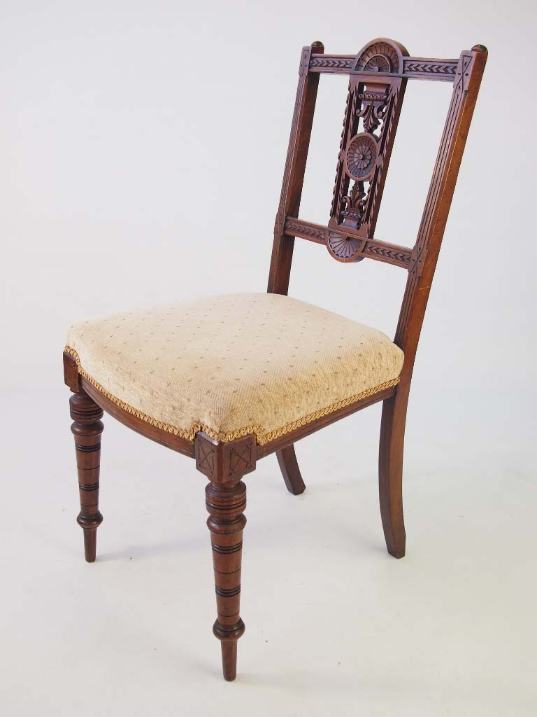 Set 6 Edwardian Walnut Dining Chairs