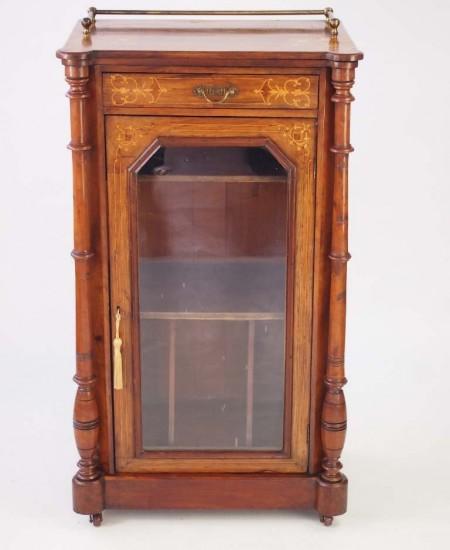 Antique Victorian Walnut Pier Cabinet