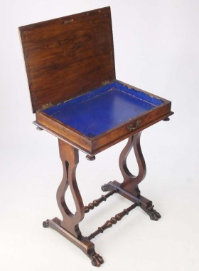 Victorian Burr Walnut Work Table