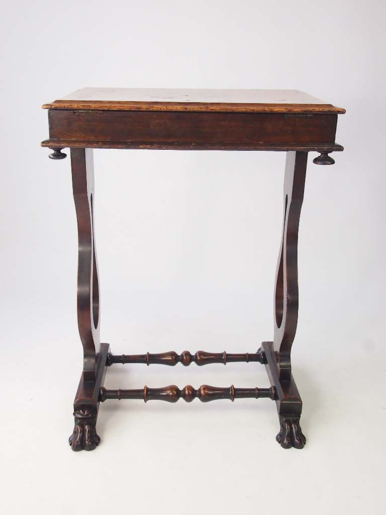 Small Victorian Walnut Side Table Work Table