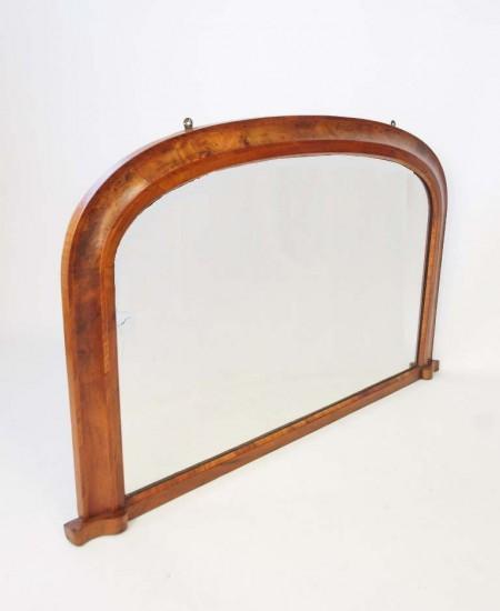 Victorian Walnut Overmantle Mirror