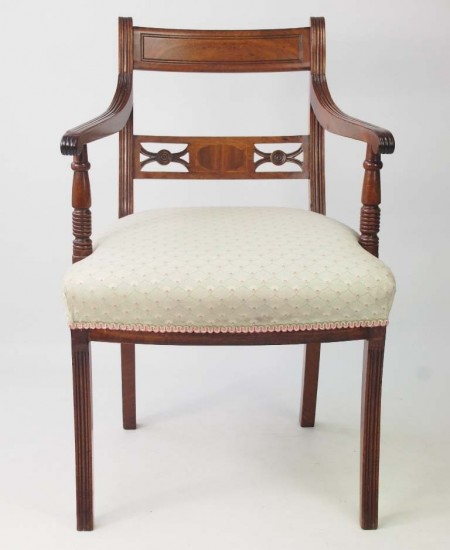 Antique Regency Mahgany Open Armchair