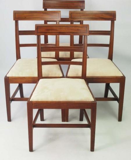 Set 4 Regency Mahogany Dining Chairs