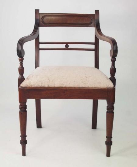 Antique Regency Mahogany Desk Chair