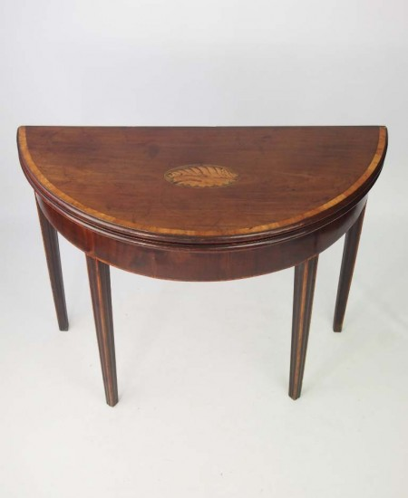 Antique Georgian Demi Lune Card Table