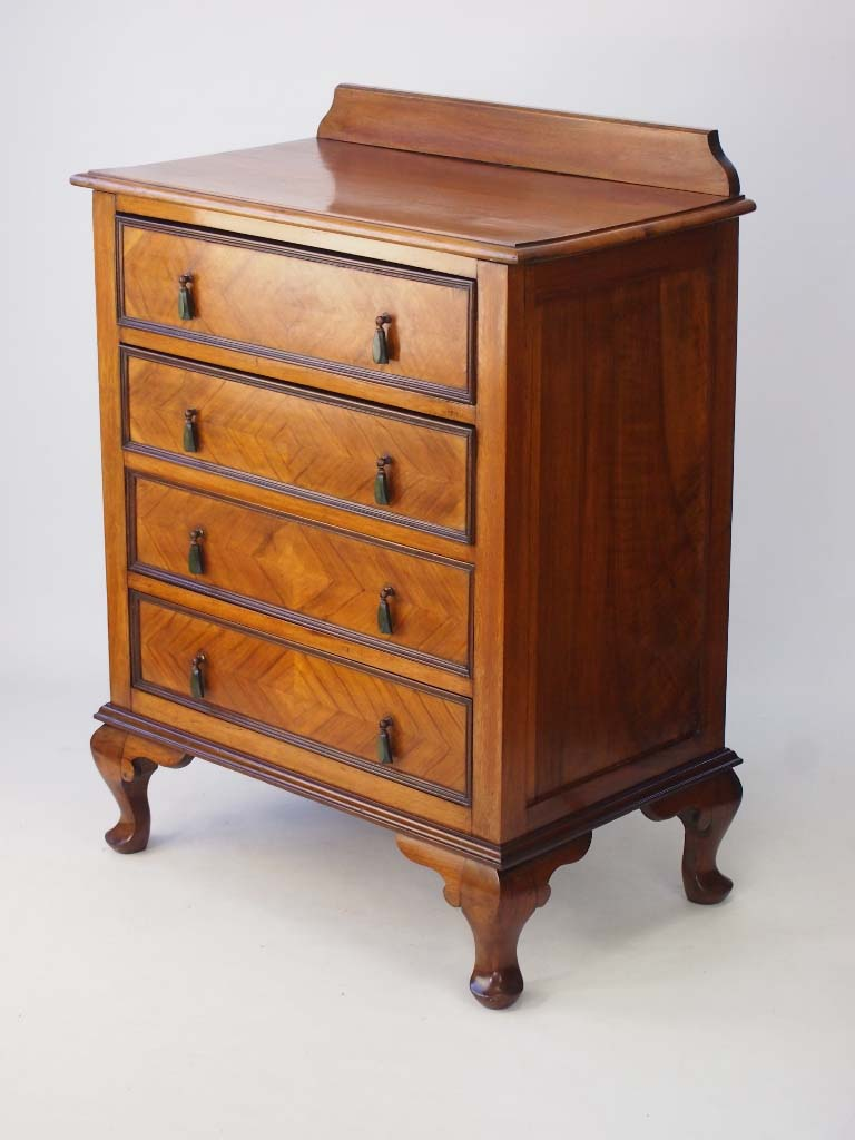 Walnut Chest Of Drawers Circa 1920s