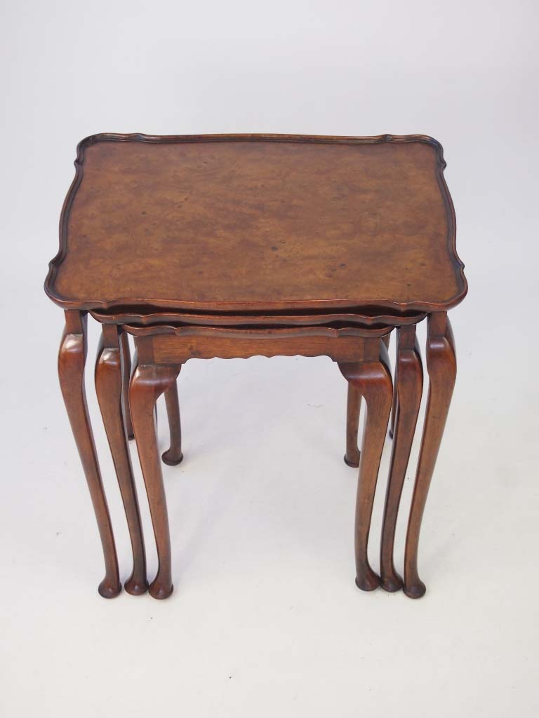 Vintage Nest Of 3 Tables Circa 1920s