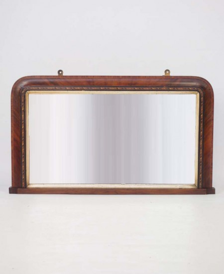 Antique Victorian Overmantle Mirror