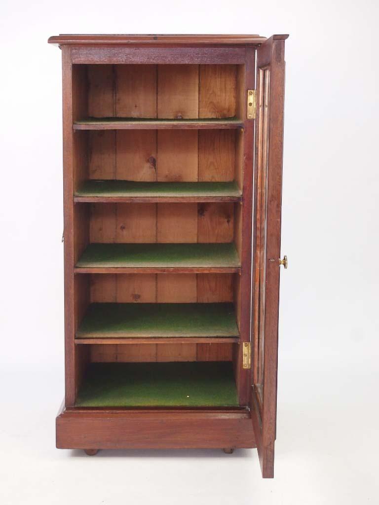 Small Antique Mahogany Music Cabinet
