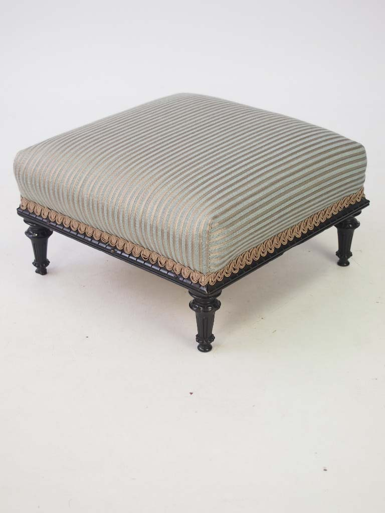 Small Antique Victorian Footstool Stamped A Blain Amp Son