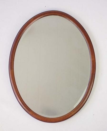 Small Edwardian Oval Mirror