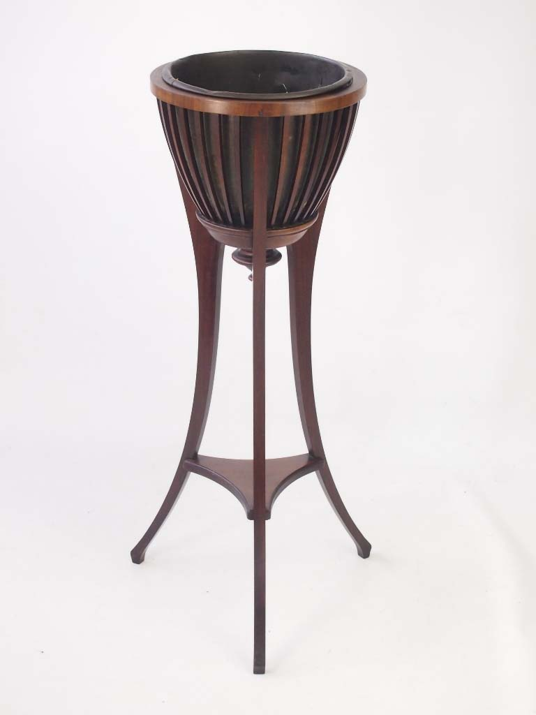 Antique Furniture Antique Edwardian Mahogany Plant Stand