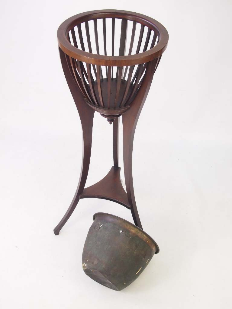 Antique Edwardian Mahogany Jardiniere Plant Stand