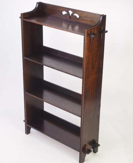 Oak Arts and Crafts Open Bookshelf