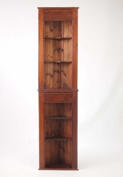 Pair Edwardian Hanging Shelves