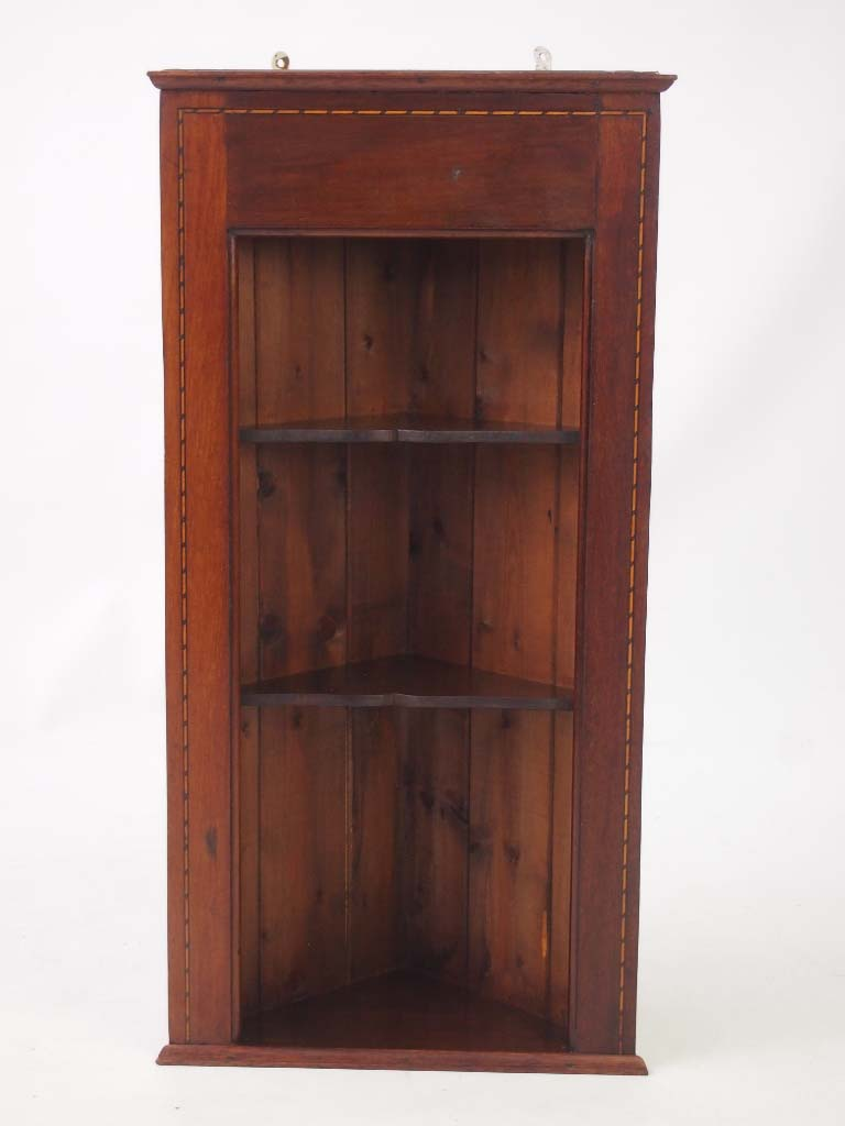 Tall Corner Cabinets Furniture: Pair Edwardian Hanging Corner Cabinets / Tall Shelf Unit