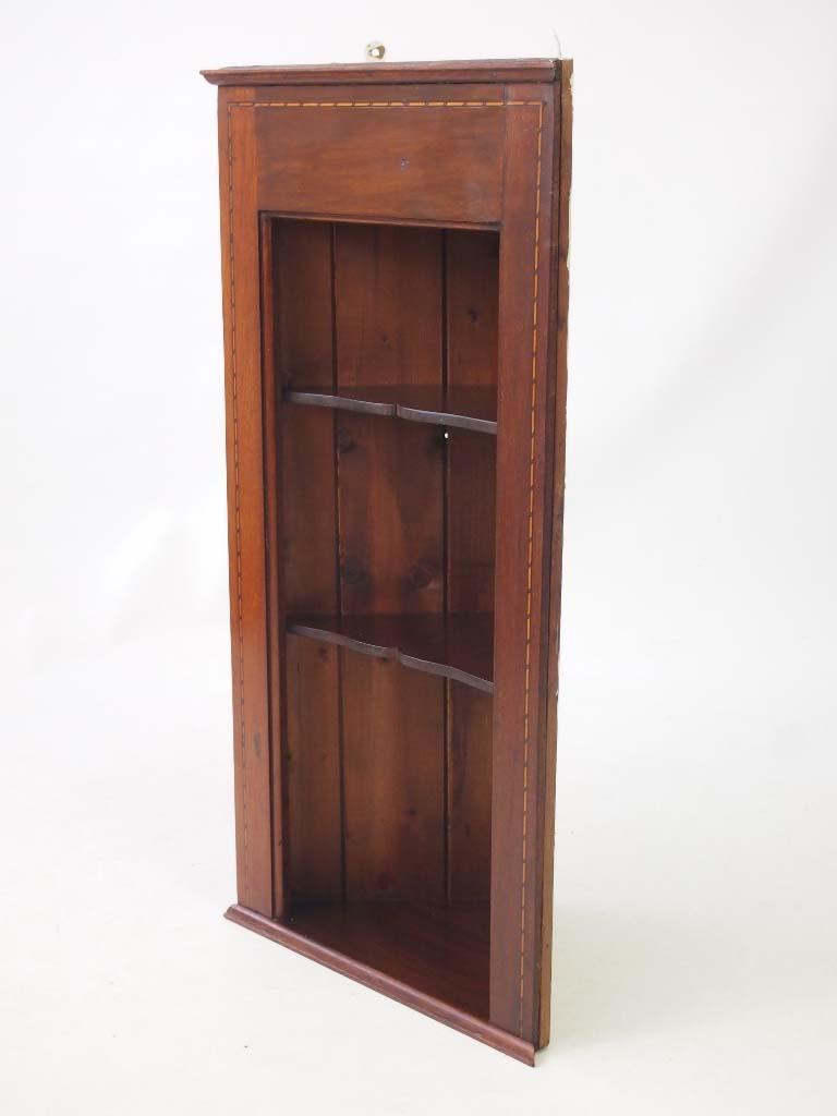 Corner Cabinet Furniture Dining Room: Pair Edwardian Hanging Corner Cabinets / Tall Shelf Unit