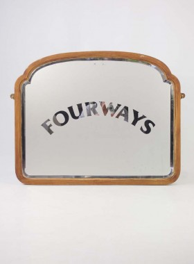 Edwardian Reverse Etched Pub Mirror