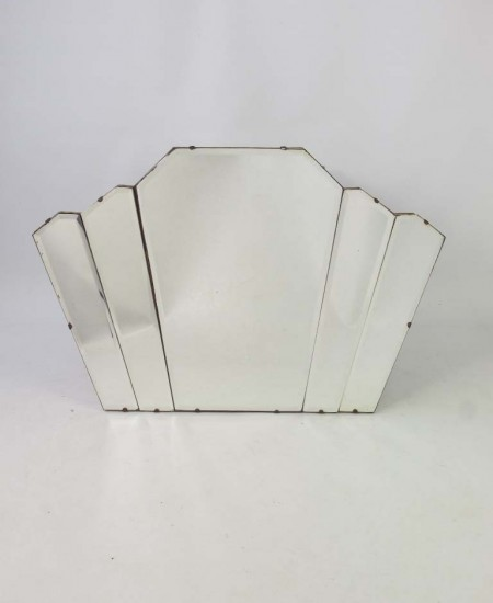 Art Deco Fan Shaped Oermantel Mirror