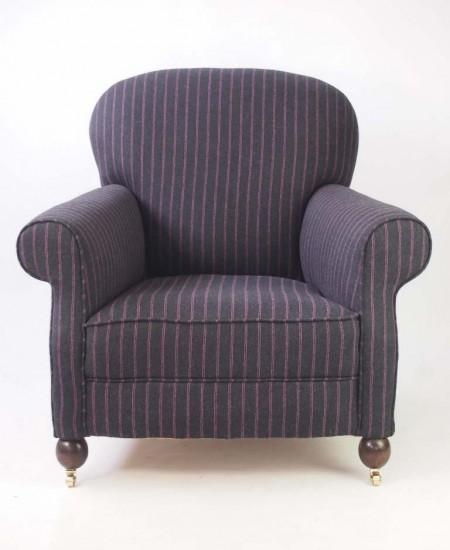 Art Deco Upholstered Club Armchair
