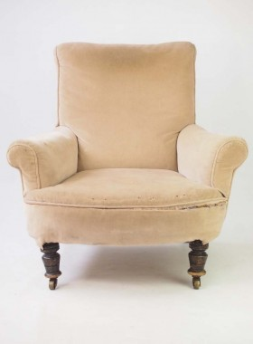 Antique Howard Style Armchair for Reupholstery