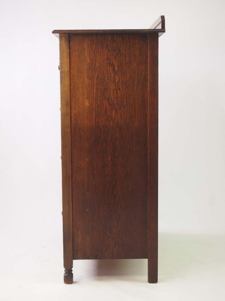 Tall Vintage Oak Chest Of Drawers