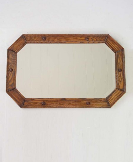 Vintage Oak Overmantle Mirror