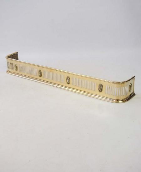 Antique Piereced Brass Fire Fender