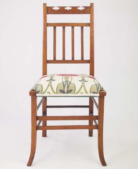 Small Arts Crafts Oak Bedroom Chair