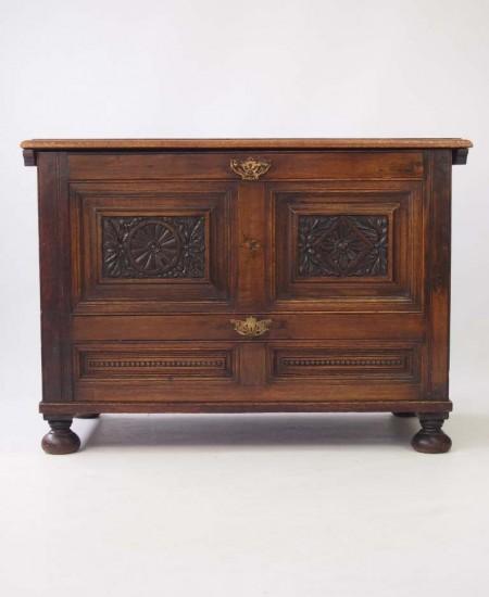 Carved Vintage Oak Coffer