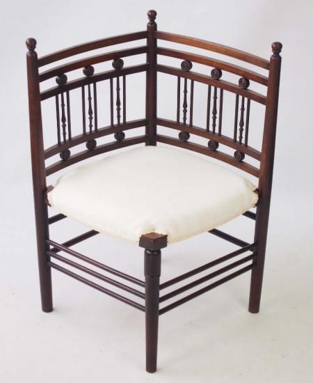 Edwardian Arts & Crafts Corner Chair