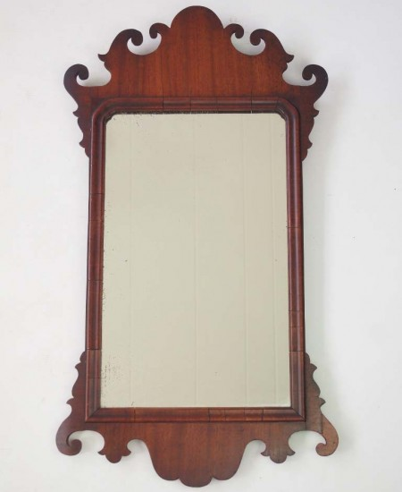 Georgian Mahogany Fretwork Mirror