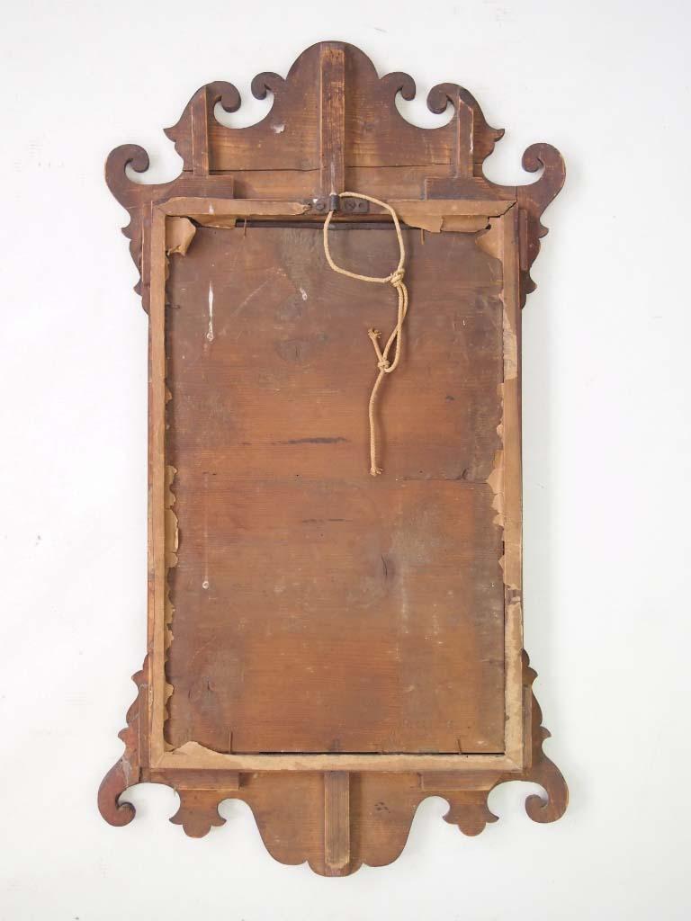 Antique Georgian Mahogany Fretwork Mirror
