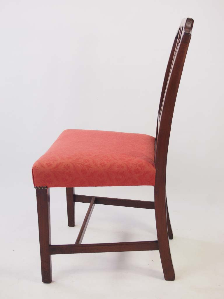 Pair Small Antique Georgian Mahogany Side Chairs