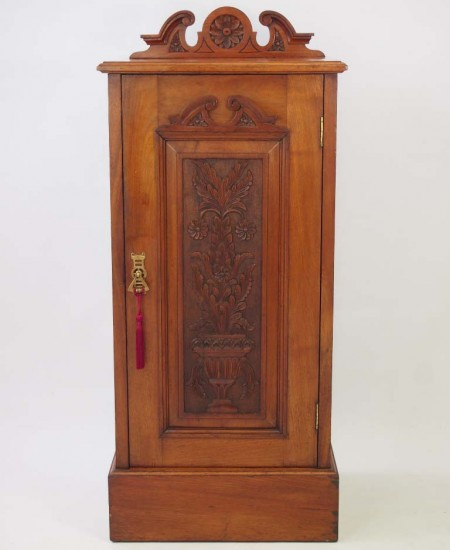 Carved Edwardian Hall Cupboard